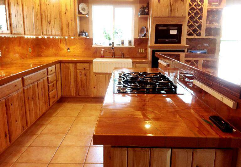 Epoxy Kitchen Countertop Newkitchenepoxy Above Is A An Old Formica Countertop That